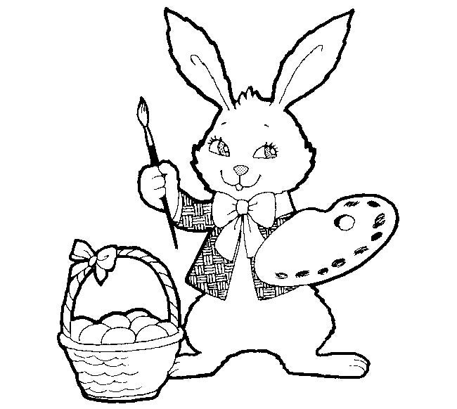 free easter rabbit template
