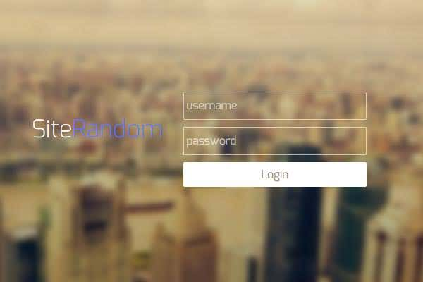 how to make html css login web page