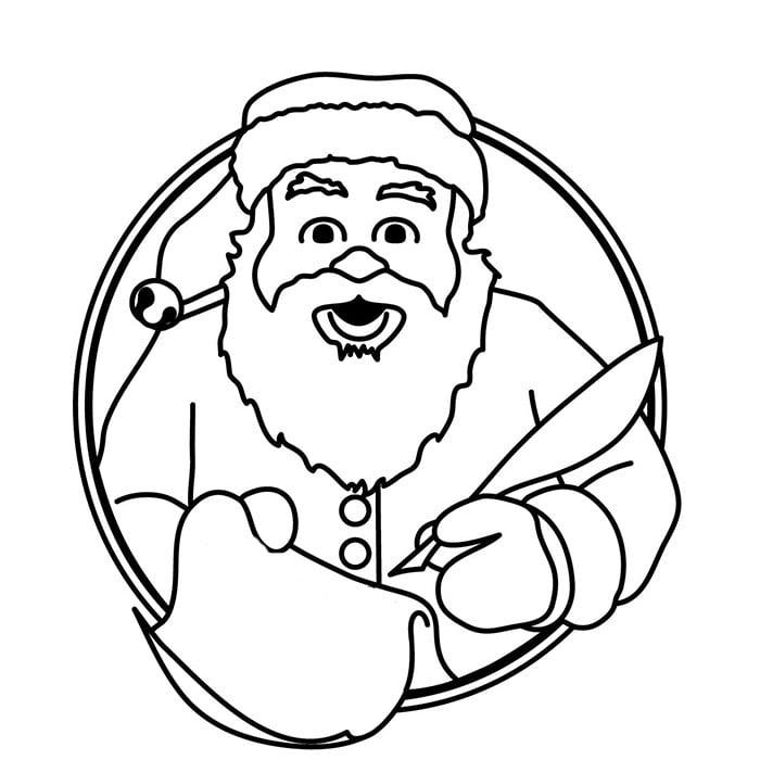 free santa claus template