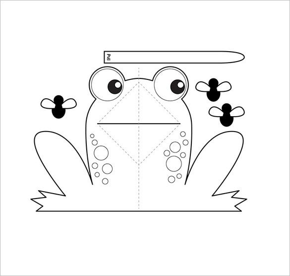 Frog Template Animal Templates Free Premium Templates