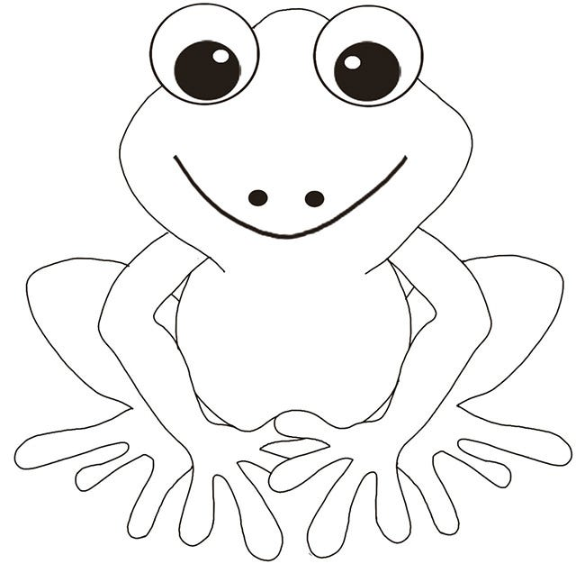 Free frog coloring page download