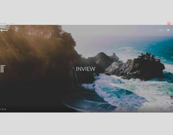 full screen photography wordpress theme