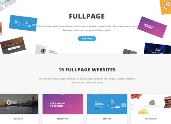 fullpage fullscreen one page theme