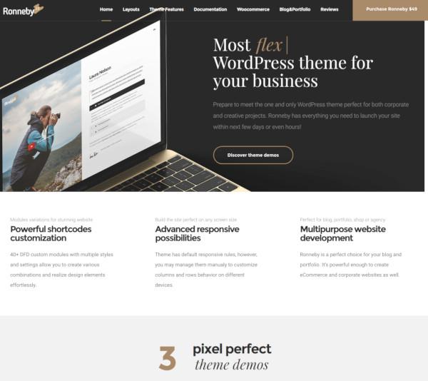 fullscreen high performance wordpress theme