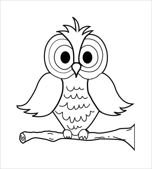funny owl template