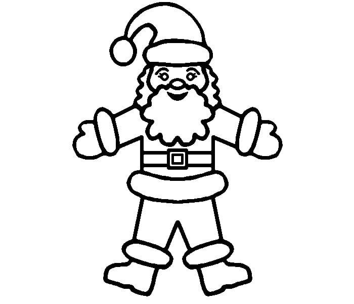 funny santa coloring page