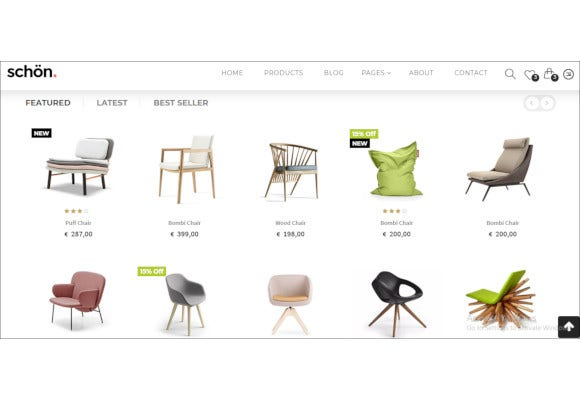 furniture e commerce html templates