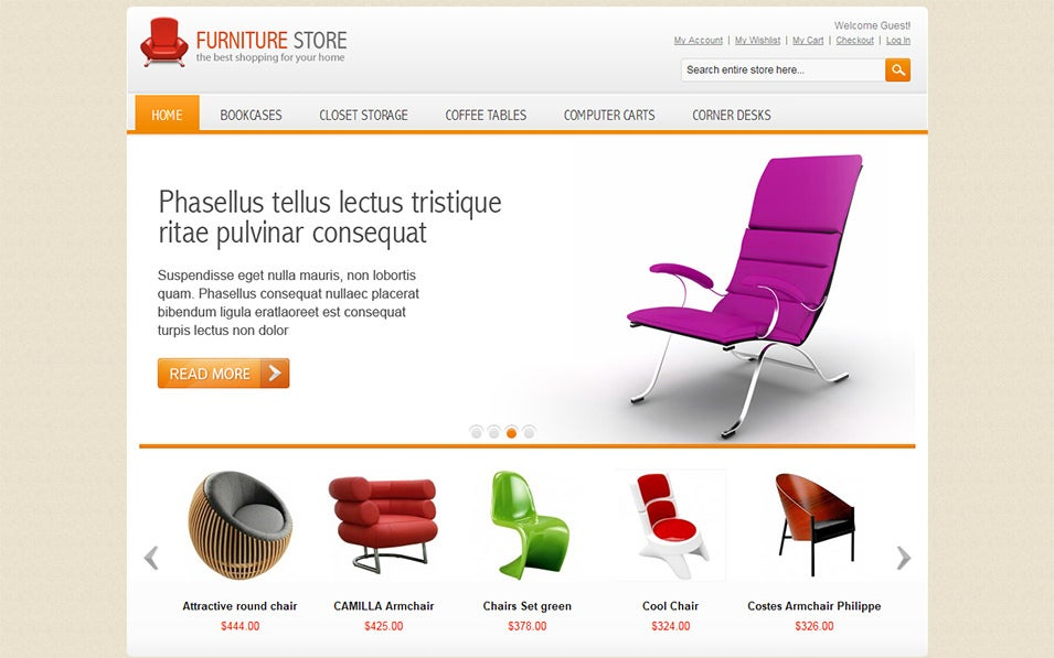 Templates For Furniture | 25 Best Furniture Ecommerce Templates Free Premium Themes
