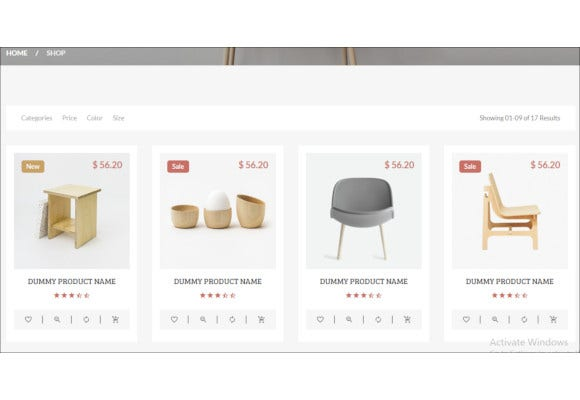furniture ecommerce template
