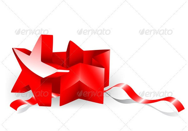 gift box in a shape of a star