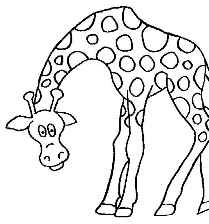 girafee coloring pag