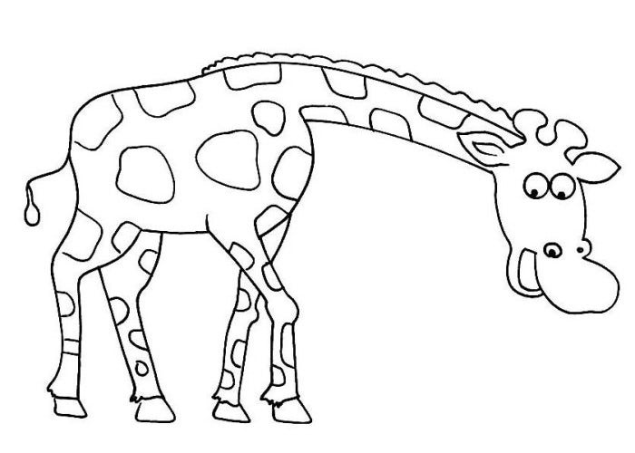 girafee in africa coloring page