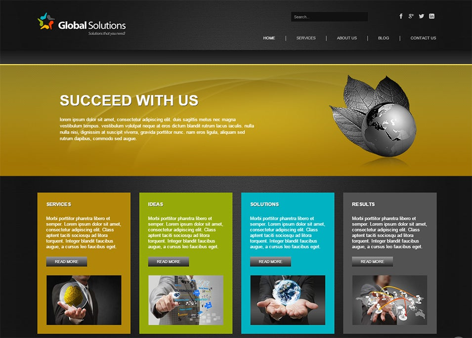 global solutions joomla bootstrapped template