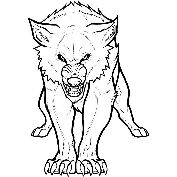 Beautiful Realistic Werewolf Coloring Pages Images New Printable