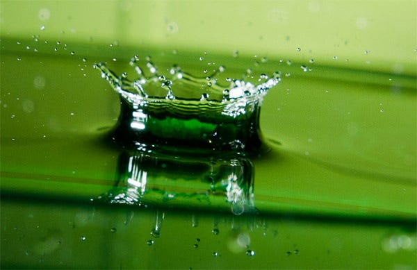 green water photography