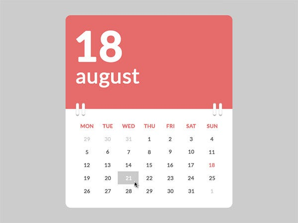 Html Calendar Templates  Free Html Psd Css Format Download