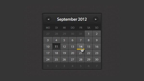 26+ HTML Calendar Templates - HTML, PSD, CSS | Free