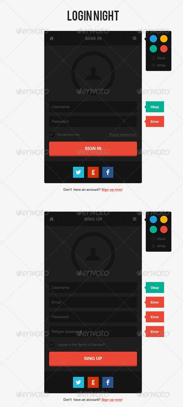 Html Day Night Login Page Template