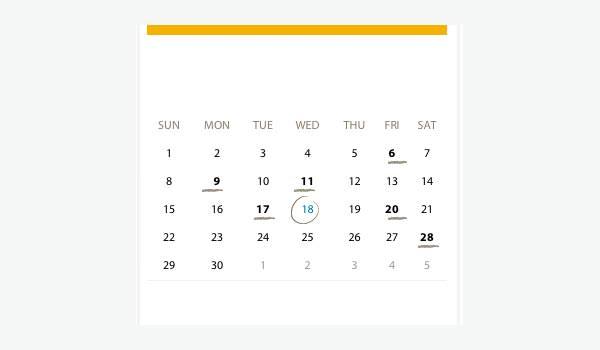 html events calendar 1