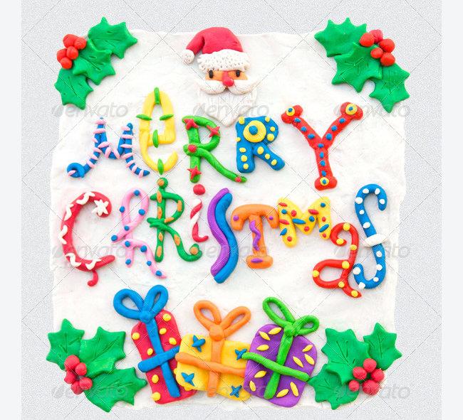 handmade plasticine christmas card 13
