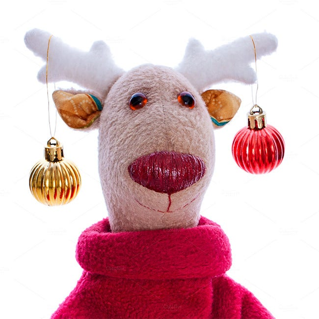 handmade toy christmas deer 6
