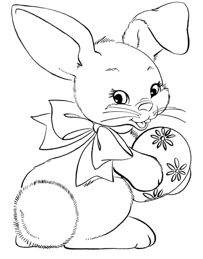 happy bunny coloring page