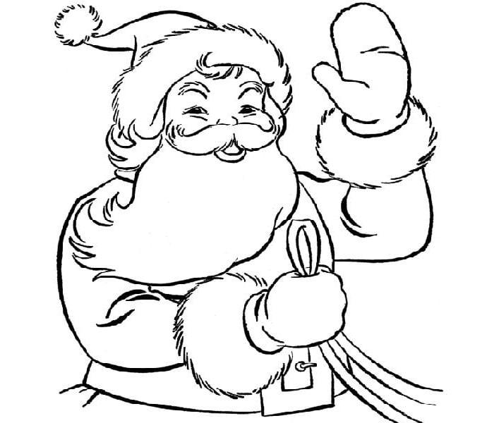 Santa Claus Face Template Printable