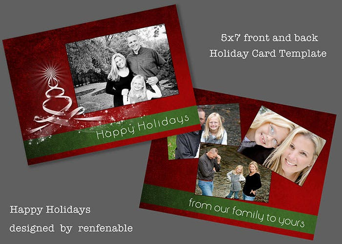Happy Holidays Greeting Card Template