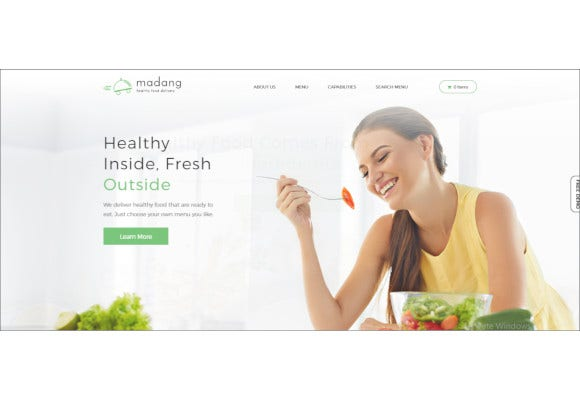 healthy food delivery nutrition wordpress theme