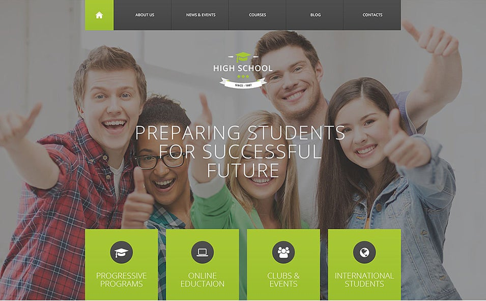 High School Promotion WordPress Theme