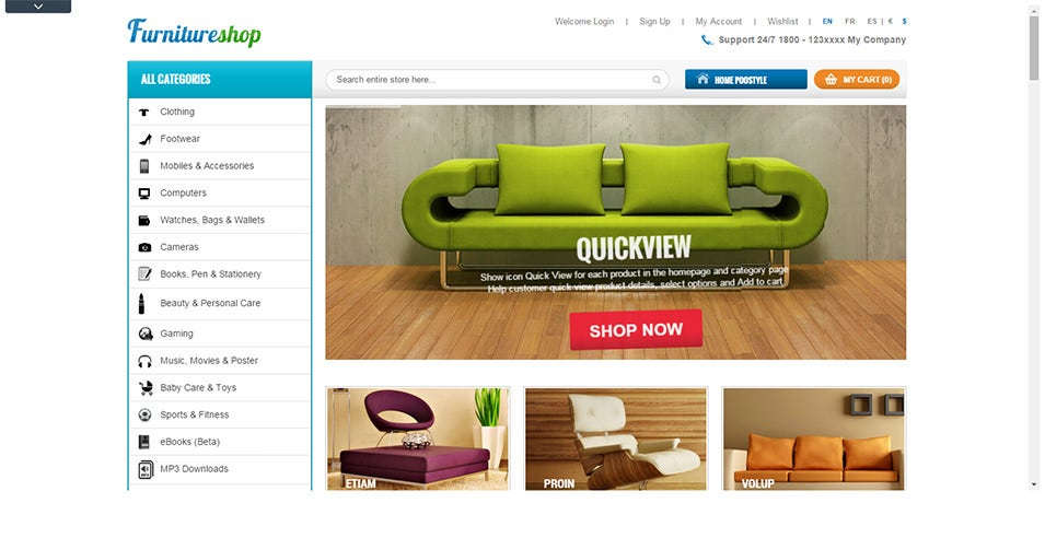home furnitures responsive theme