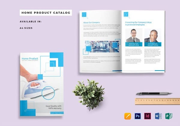 home product catalog template to edit