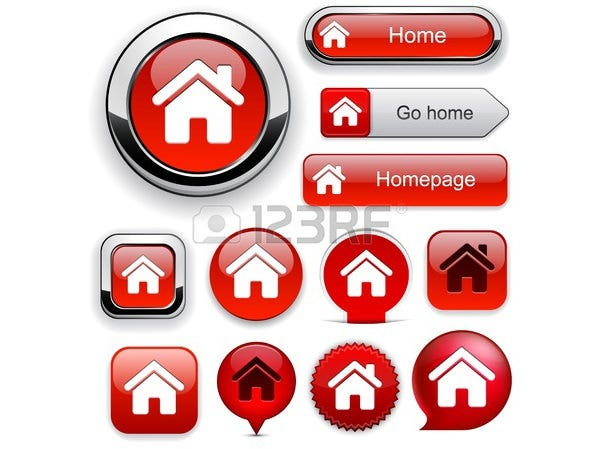 Home red design elements for