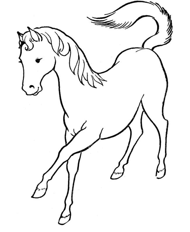 free printing horse coloring pages - photo#15