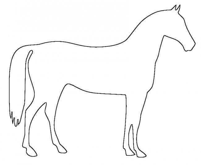 horse outline - Animal Outlines To Color