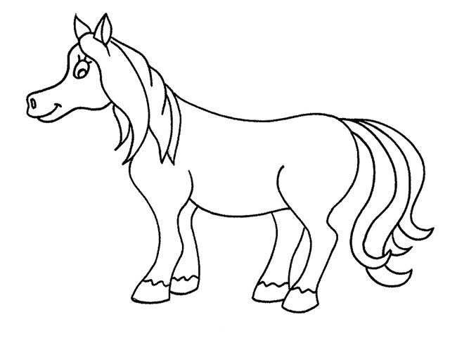 Horse Template For Kid...