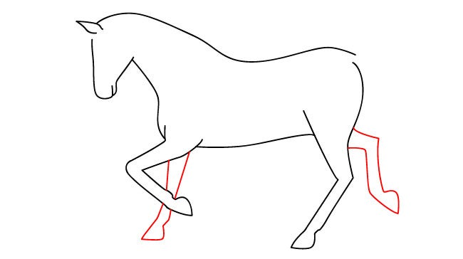 horse template 32