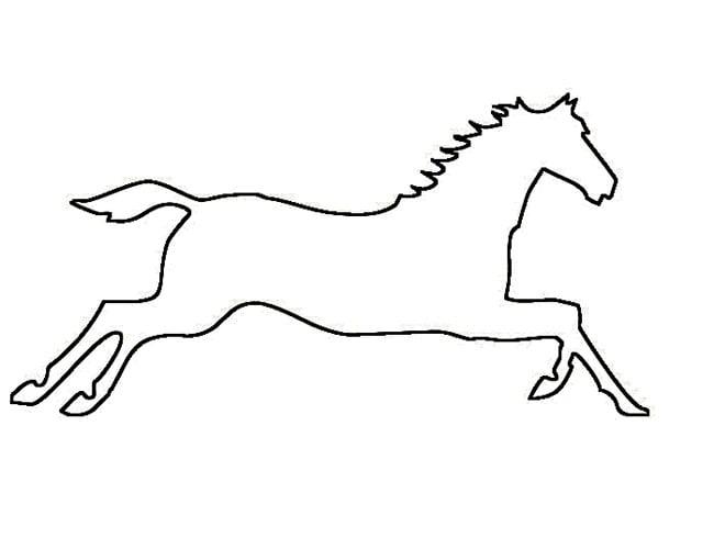 Horse template animal templates