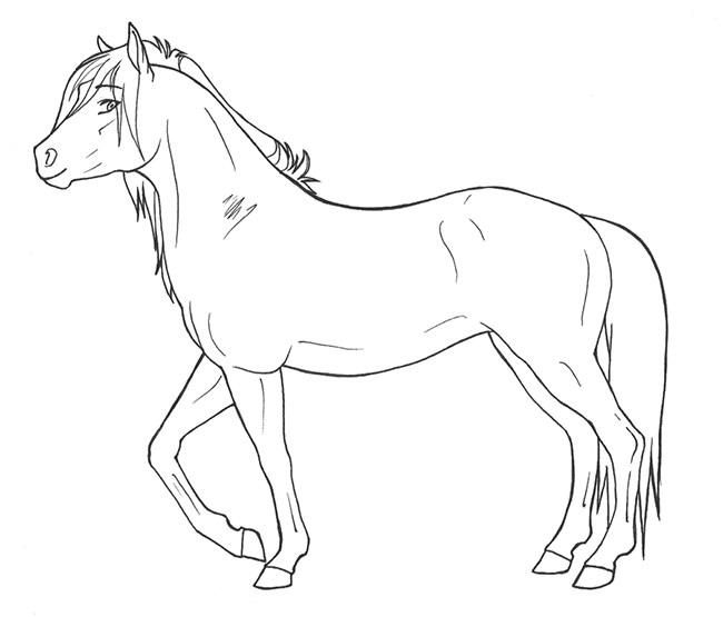 Horse Template - Animal Templates
