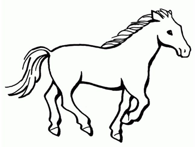 free printing horse coloring pages - photo#32