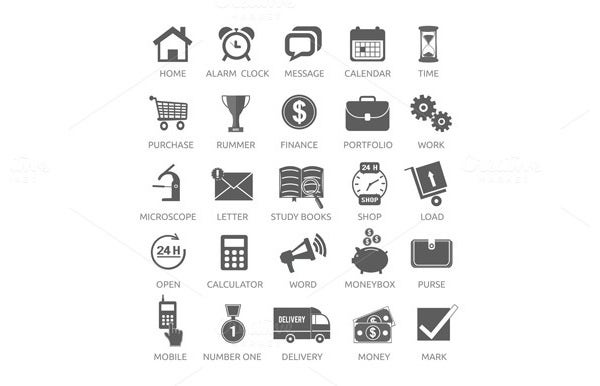 icons for web and mobile application