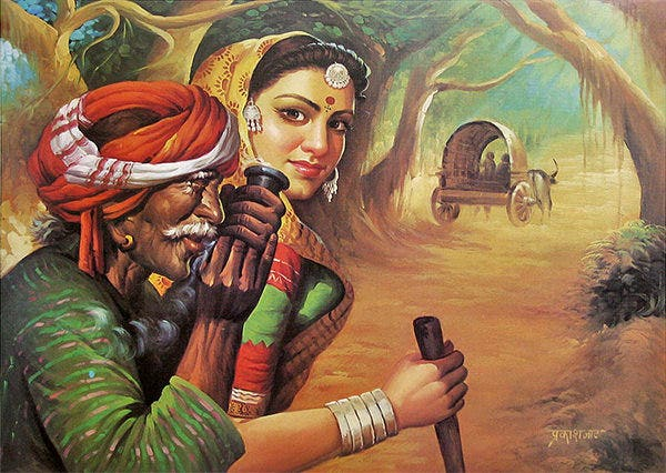 indian art aesthetic painting
