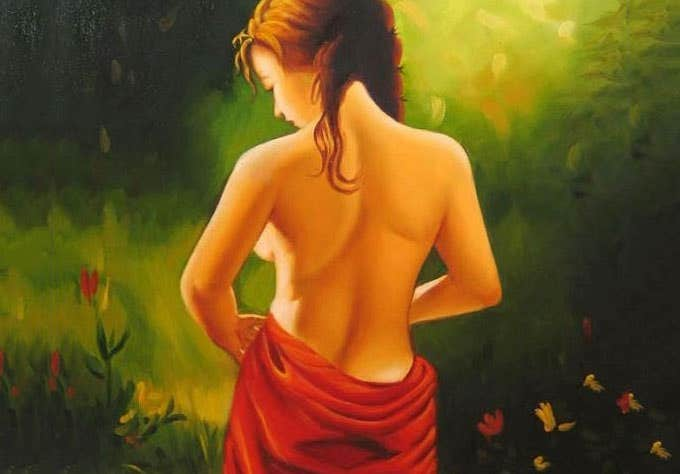 indian figurative art paint