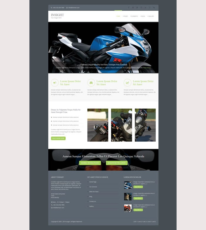 Insight Premium Website Template