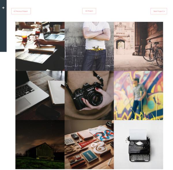 interactive portfolio wordpress theme