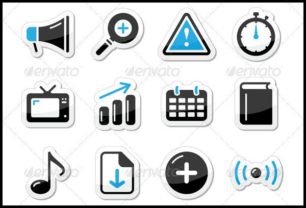 internet website icons set