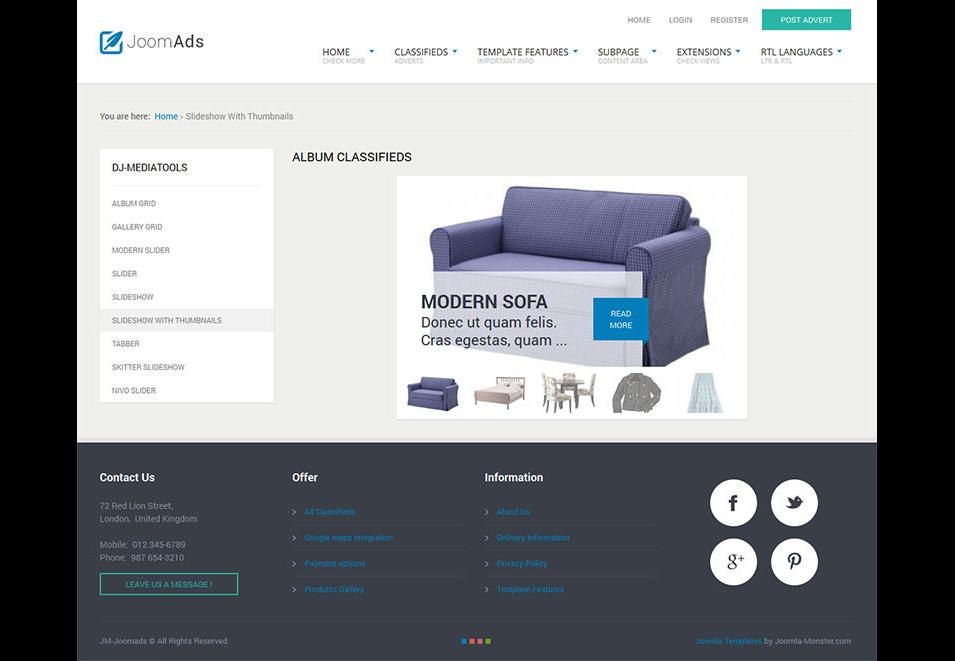 joomads multipurpose listings site