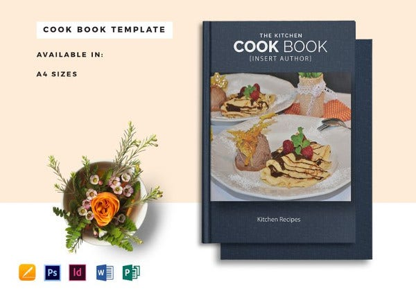 kitchen cookbook indesign catalog template
