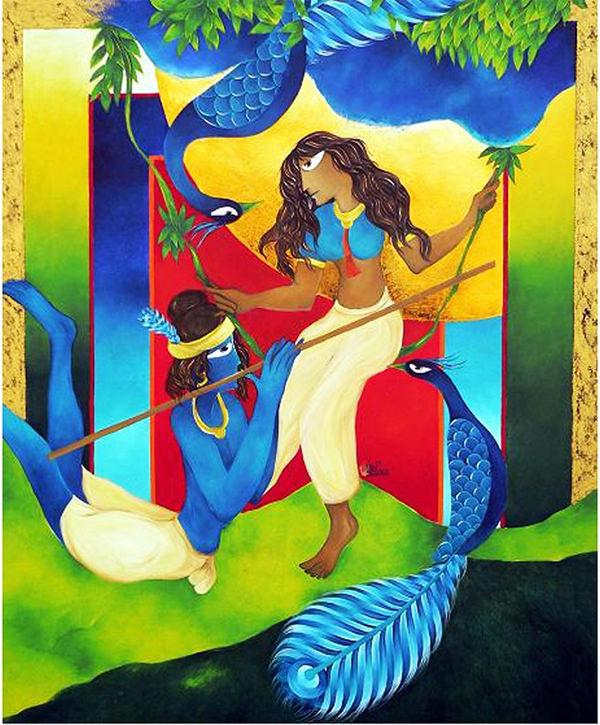 krishna woo radha painting