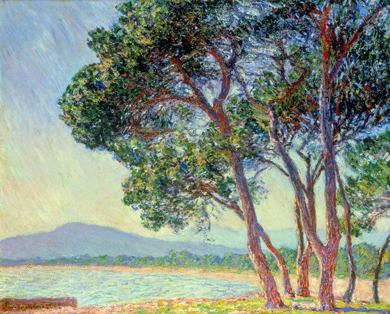 la plage de juans les pins art print